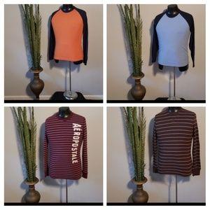 Set of 4 Old Navy/Aeropostale long sleeve shirts